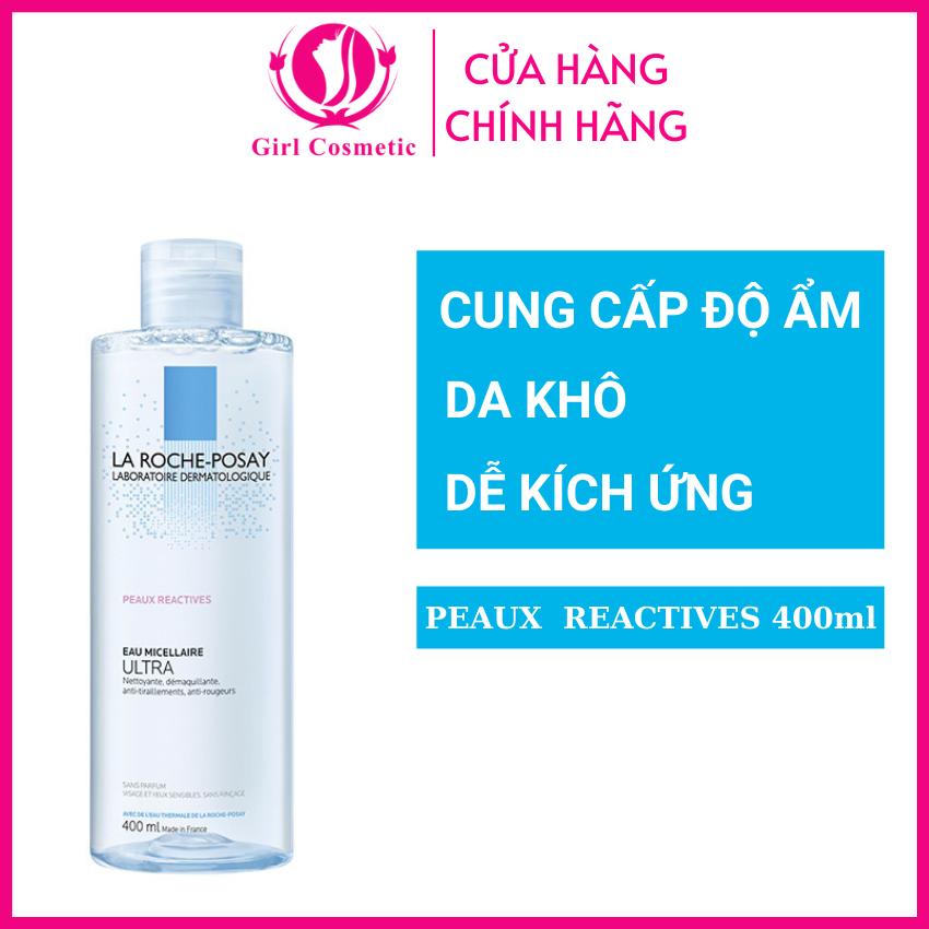 Nước tẩy trang La Roche-Posay Micellar Water Ultra Reactive Skin cho da khô siêu nhạy cảm, dễ kích ứng 400ml