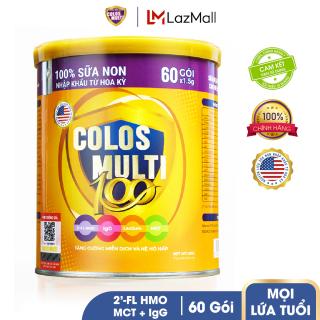 Sữa bột cho trẻ biếng ăn, tiêu hóa kém Mama Sữa Non Colos Multi 100 dạng lon 60 gói x 1,5g thumbnail