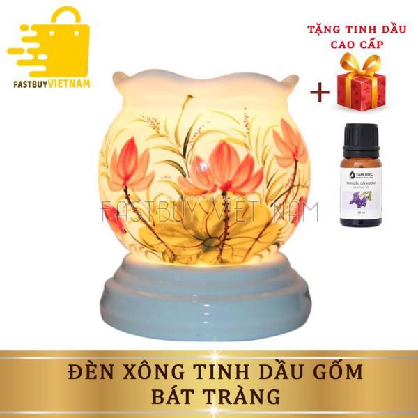 Bảng giá Đèn xông tinh dầu gốm bát tràng +Tặng kèm 1 lọ tinh dầu,  giúp tạo hương thơm nhẹ nhàng dễ chịu