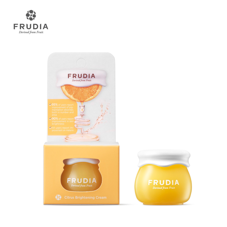 Mã Giảm Giá Khi Mua Kem Dưỡng Trắng Sáng Chiết Xuất Cam Quýt  Frudia Citrus Brightening Cream Jar 10g