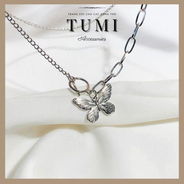 Dây Chuyền ✩ Vòng Cổ Butterfly Phong Cách Cổ Điển Sành Điệu Thời Trang Chất Liệu Cao Cấp ✩ Tumi Accessories