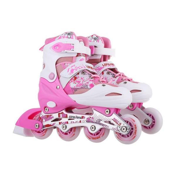 Phân phối [Lấy mã giảm thêm 30%]Giày trượt Patin Long Feng 906 có đèn - Đủ màu - Đủ Size thể thao 360