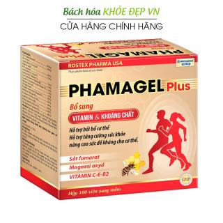 Viên uống bổ sung vitamin tổng hợp và khoáng chất Phamagel Plus bồi bổ cơ thể, tăng cường sức khỏe, tăng sức đề kháng - Hộp 100 viên dùng 100 ngày thumbnail