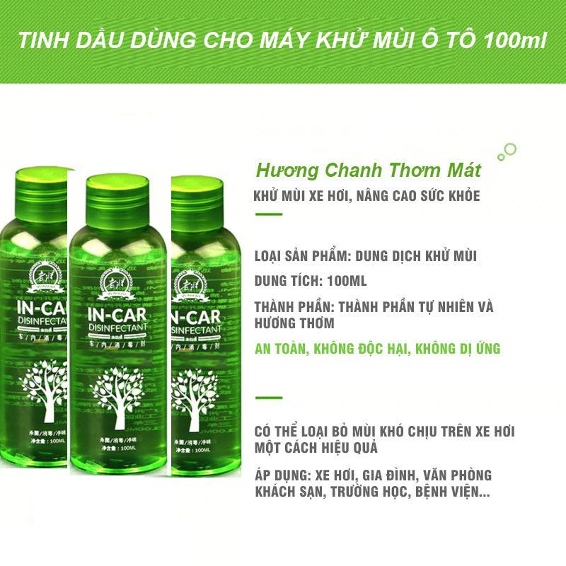 Combo Tiết Kiệm 40% - 03 Chai Dung Dịch Xông Khử Mùi Ô Tô 100ml Hương Thơm Mát Không Gây Kích Ứng, Buồn Nôn