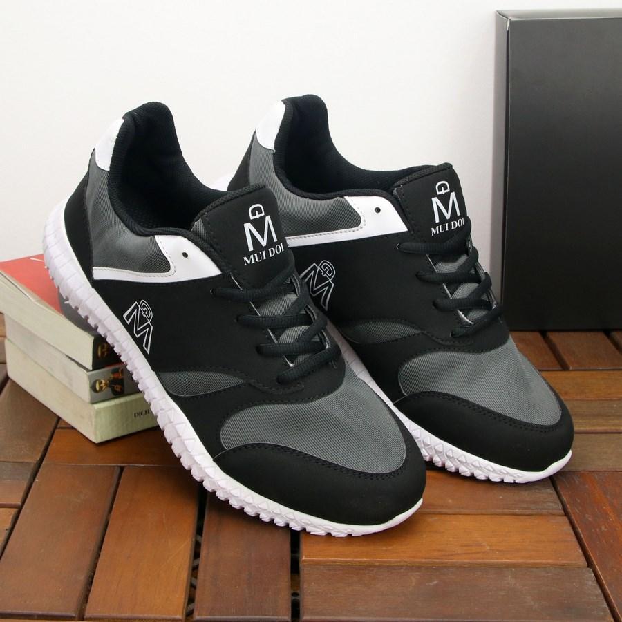 Mã Coupon Giày Thể Thao Nam Muidoi G145 (Đen) Giày Nam đẹp đế Siêu Nhẹ