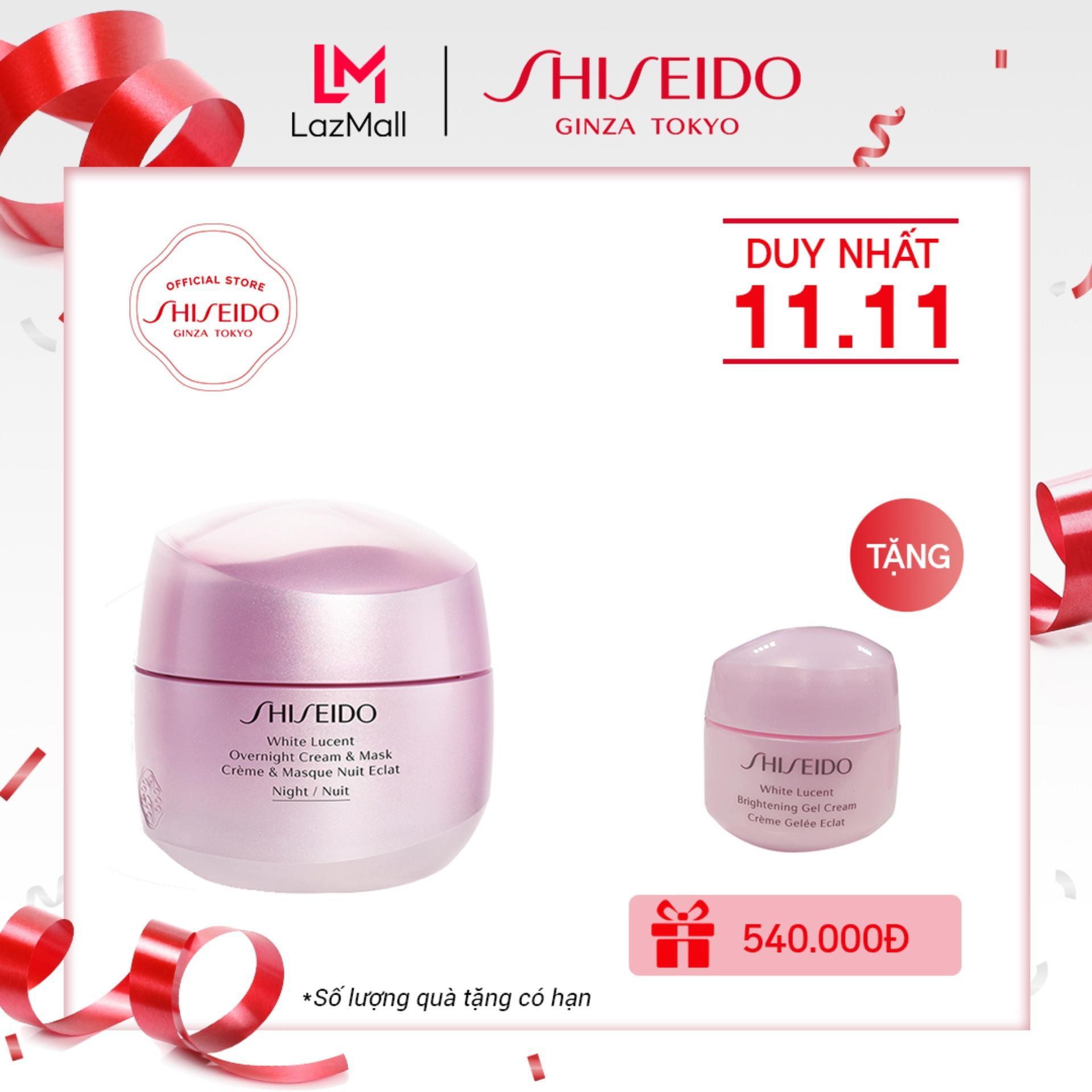 Bộ kem dưỡng trắng ban đêm Shiseido White Lucent Overnight Cream & Mask 75mL + 15ml tốt nhất