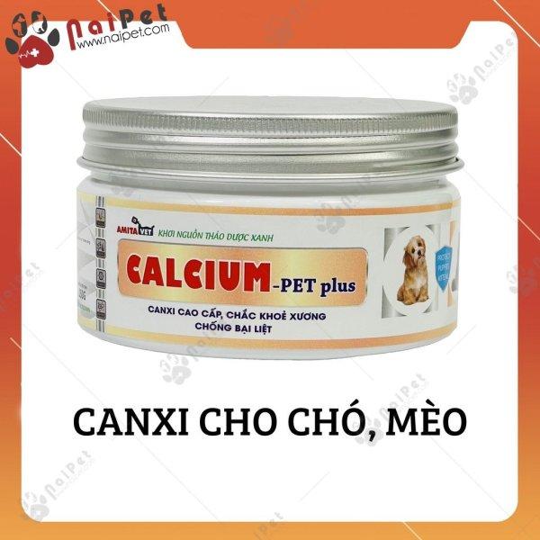 Bột Bổ Sung Canxi Chống Bại Liệt Cho Chó Mèo Calcium Pet Plus Amitavet 150g