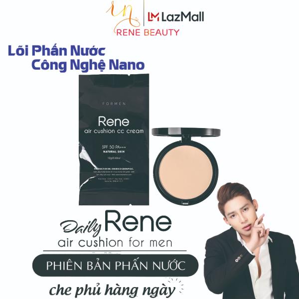 Lõi Phấn không khí cho Nam (Công nghệ nano; lót; nền; dưỡng; chống nắng) Rene Air Cushion CC Cream SPF50 PA+++ For Men from USA