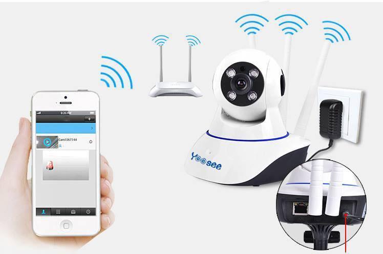 [ XẢ KHO ] Camera IP Wifi Yoosee 3 Râu 720P Chất Lượng Tốt, Kết Nối Bằng Wifi- Cài Đặt Tự Động, Dễ Dàng, Hình Ảnh HD- Hồng Ngoại Quan Sát Ban Đêm- Phát Âm Thanh 2 Chiều- Xoay 360 Độ, Trực Tiếp Trên Điện Thoại
