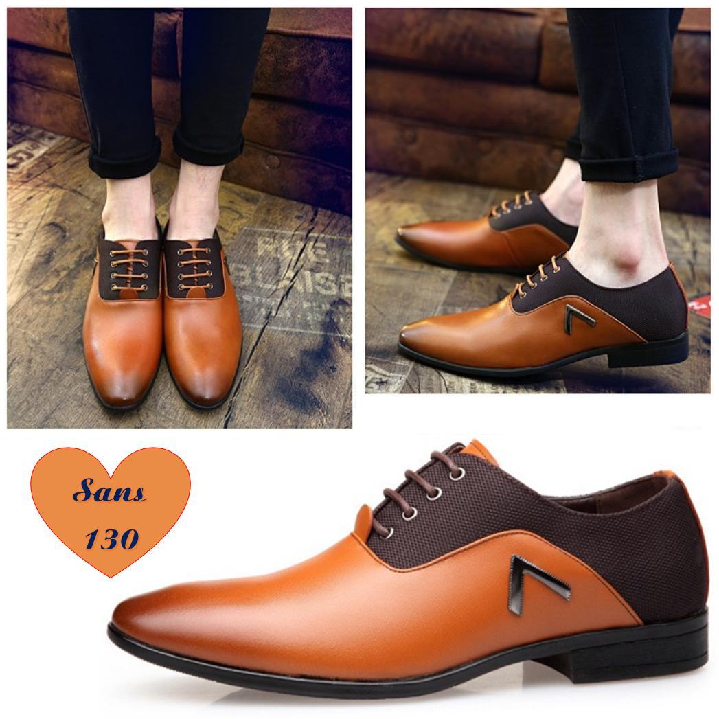 Giày Tây Nam Oxford Vải Da Siêu Sang-Hỗ Trợ Ship-Sans130