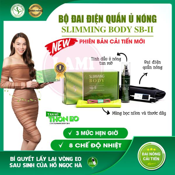 [Chính Hãng] Bộ Đai Điện Quấn Ủ Nóng Slimming Body SB-II Cải Tiến Mới - Giảm Mỡ Chân, Tay Bụng - Bí Quyết Eo Thon