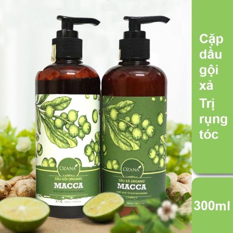 Bộ dầu gội - Dầu xả OZANA ORGANIC MACCA trị rụng và kích thích mọc tóc XP-BDG021 nhập khẩu