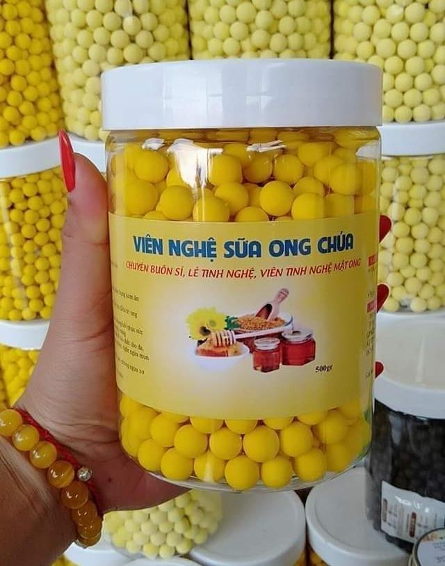 [500 gram] Viên tinh bột nghệ Mật ong - hàng chuẩn
