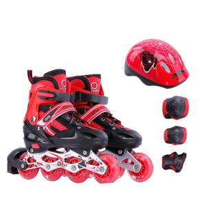 Giày Trượt Patin Bánh có đèn,có thể điều chỉnh size giành cho trẻ em và người lớn Tặng Kèm Bộ Bảo Hộ (Chân Tay + Mũ Bảo Hiểm) thumbnail