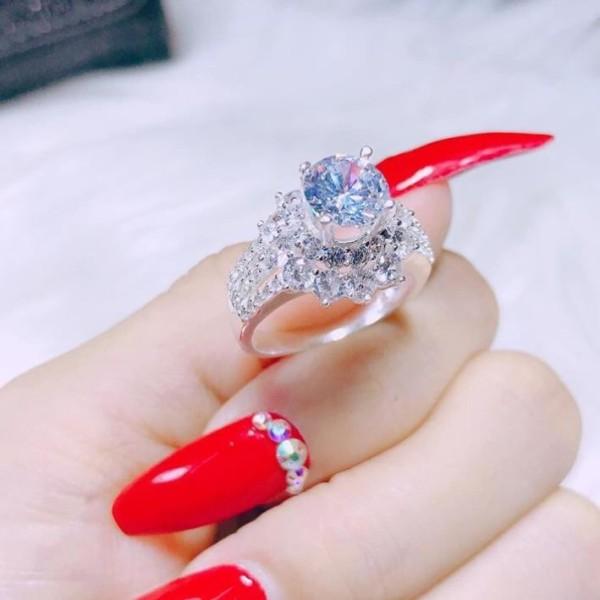 Nhẫn nữ đính đá cao trẻ trung, thời trang, chất liệu bạc 925 cao cấp- JQN gian hàng chính hãng cam kết bạc chuẩn, chất lượng không lo đen xỉn