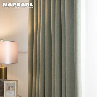 Napearl đồng bằng 100% màn đen rắn rèm rèm cửa sổ phòng ngủ Roman bếp màn 1 cái thumbnail