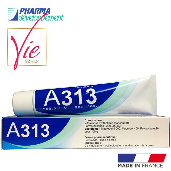 A313 Retinol Pommade Cream - Kem A313 Pommade Retinol Cream ngừa mụn chống lão hóa giảm nếp nhăn 50g, chất lượng đảm bảo an toàn đến sức khỏe người sử dụng
