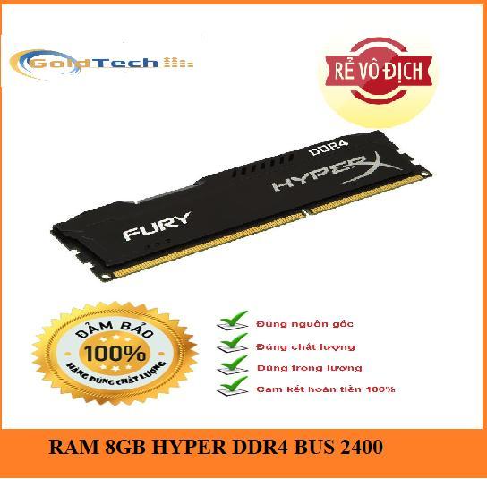 Voucher Ưu Đãi RAM Kingston DDR4 8GB Bus 2400 MHz Có Tản HYPER Mới Bảo Hành 36 Tháng