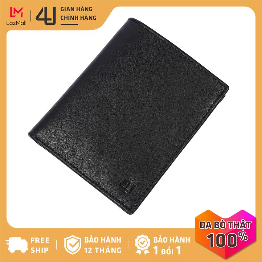 Bóp ví nam da bò thật 4U cao cấp dáng đứng, có nhiều ngăn đựng tiền và thẻ tiện dụng FB241