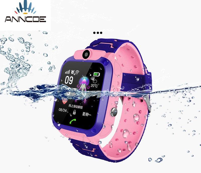 Đồng hồ thông minh định vị trẻ em ANNCOE A28 định vị chính xác vị trí chụp hình nghe nén từ xa chống nước IP67