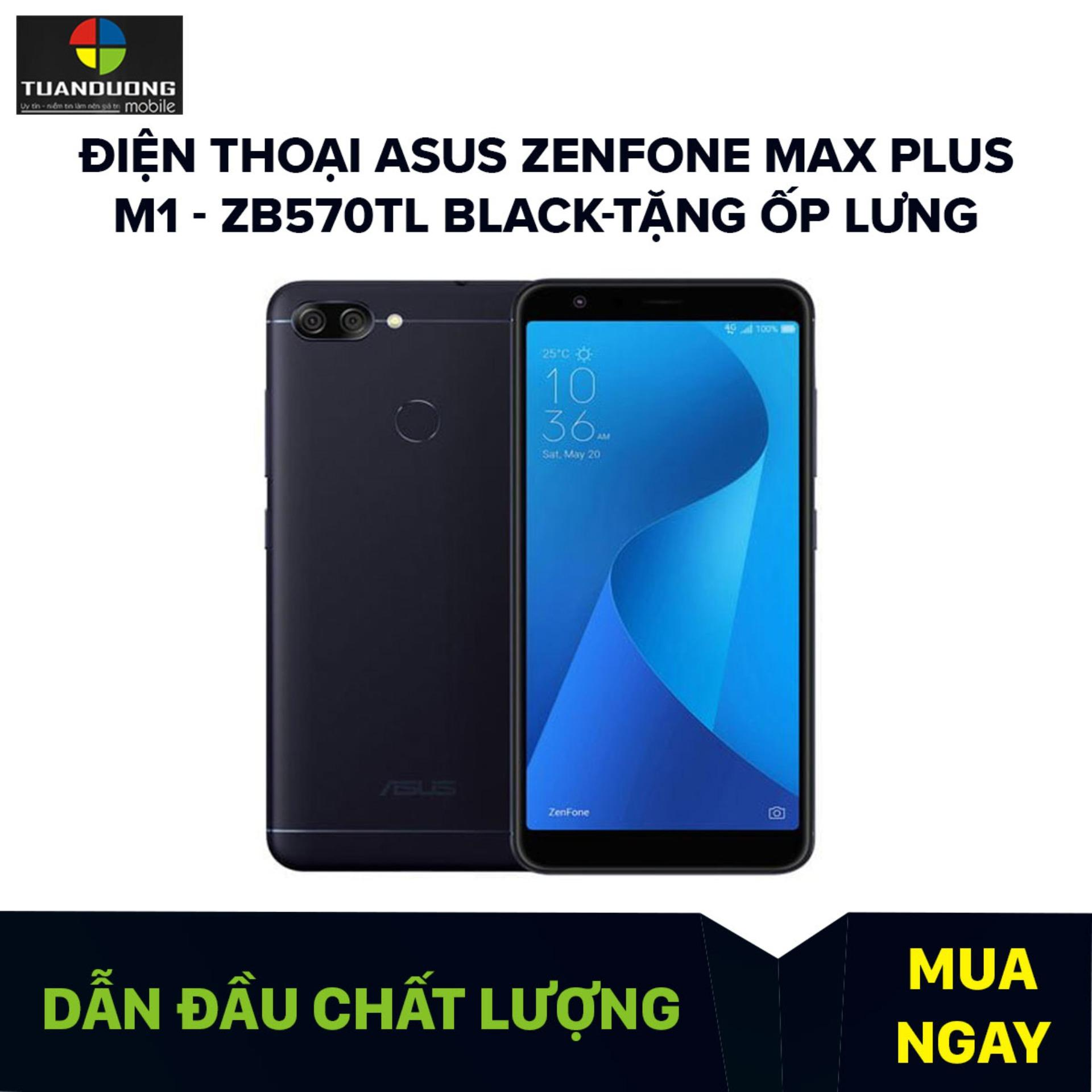 Điện thoại ASUS Zenfone Max Plus M1 - ZB570TL Black-Tặng Ốp Lưng