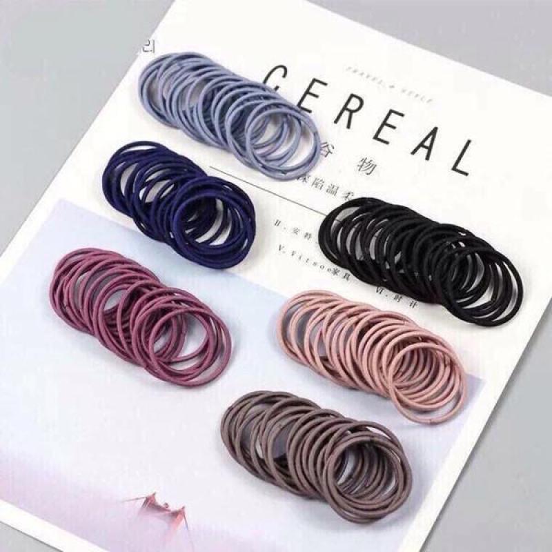 Combo 100 dây cột tóc Hàn Quốc siêu dai cao cấp