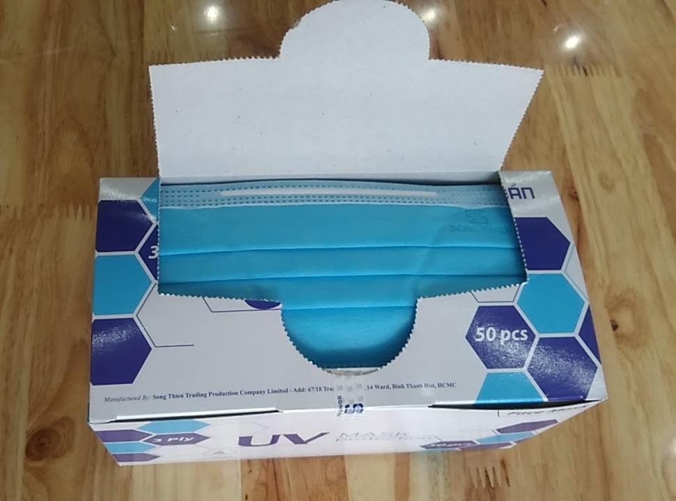 Khẩu trang 3 lớp UV Mask Protection (Hộp 50 cái)
