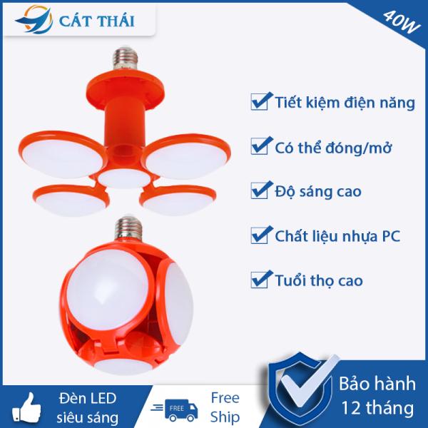 Bảng giá [HCM]Đèn LED 40W tiết kiệm điện năng ánh sáng trắng siêu sáng chất liệu cao cấp cách nhiệt chống nổ hình quả bóng có thể mở/đóng chiếu sáng mọi nơi