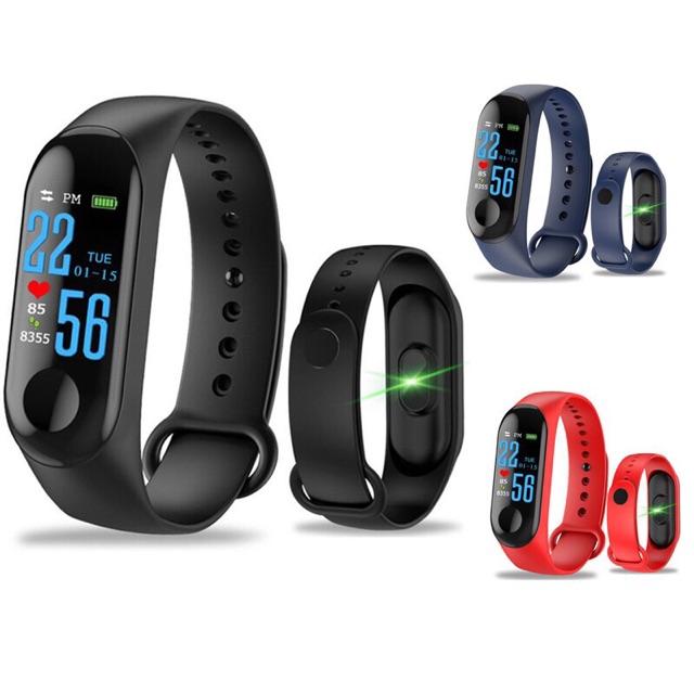 Vòng đeo tay thông minh Smart Band M3 Đo Nhịp Tim kết nối Bluetooth-Màn Hình Màu,Vòng Đeo Tay Thông Minh Đo Huyết Áp,Nhịp Tim,Hoạt Động Thể Dục Vòng Đeo Tay Thông Minh M3-Đồng hồ Thông Minh Chống Nước-Vòng Theo Dõi Sức khỏe Cao Cấp