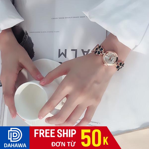 Nơi bán Đồng hồ thời trang lắc tay nữ Beike B129, Dây hoa cực xinh xắn, mặt viền kim loại không gỉ, chống nước sinh hoạt, bảo hành 6 tháng