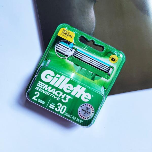 [Chính hãng] Hộp Lưỡi dao cạo râu Gillette Mach 3 Sensitive vỉ 2 cái mẫu mới - Mach3 3 lưỡi cao cấp giá rẻ