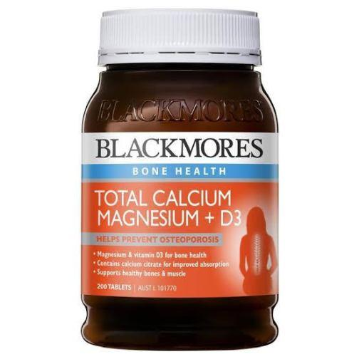 Viên uống bổ sung canxi, magiê vitamin D3 Blackmores 200 viên
