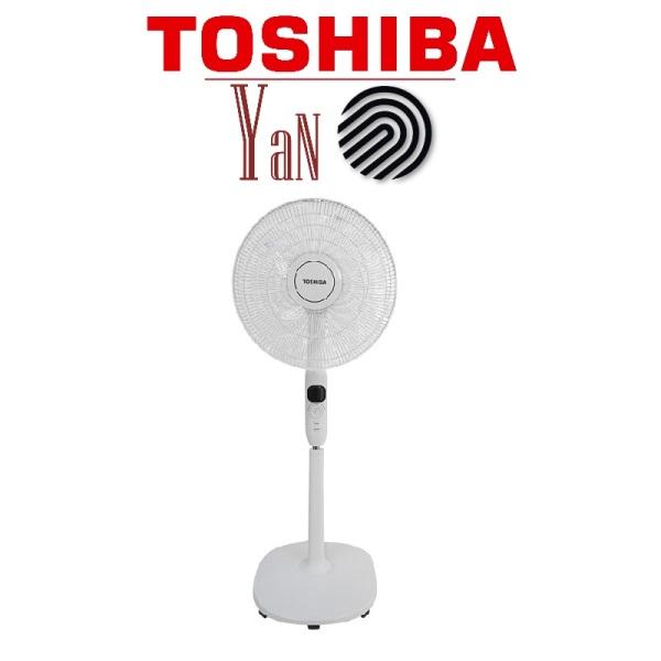 Quạt cây đứng 9 cánh Inveter có remote điều khiển từ xa màu xám Toshiba F-LSD10(H)VN 30W- Hàng chính hãng