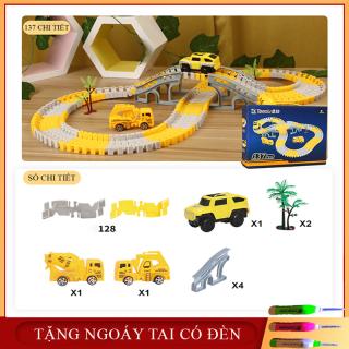 Đồ chơi trẻ em- Đồ chơi lắp ghép đường ray ô tô, tàu hỏa cho bé giúp phát triển trí tuệ trẻ. thumbnail