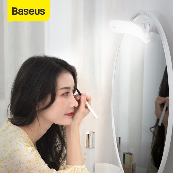 Bảng giá Baseus 4W USB LED Mirror Natural Light Makeup Mirror Vanity Light Adjustable Mirror Makeup lamp Wall Light Portable Cosmetic lights For Bathroom Dressing Table