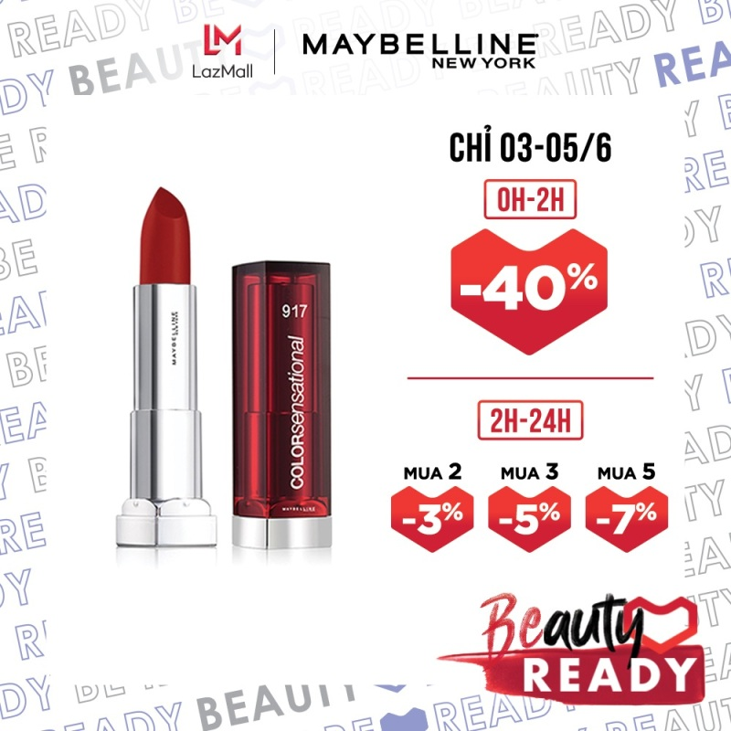 Son Dưỡng Môi Satin Maybelline New York Color Sensational State Your Color Lipstick 3.9g giá rẻ