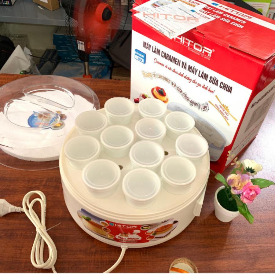 Máy Làm Sữa Chua Và Caramen HITOPS 2 in 1 Đa Năng 12 Cốc Sứ - BẢO HÀNH 12 THÁNG