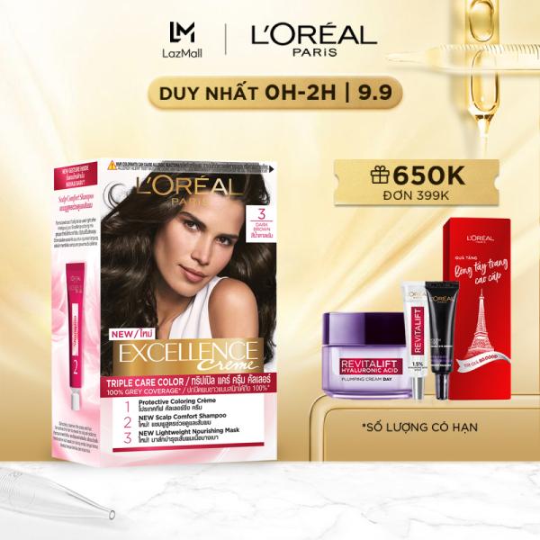 Màu nhuộm dưỡng tóc phủ bạc LOreal Paris Excellence Crème 172ml