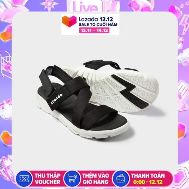 Giày nam sandals Shondo F6 Sport F6S003 (Đen trắng) giá rẻ