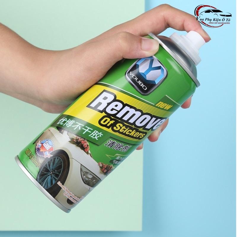 Bình xịt vệ sinh tẩy keo, vết băng dính, nhựa đường bám trên xe Ô tô