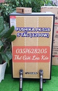 [HCM][Trả góp 0%]Loa Kéo FUSHIKA PK 518 - Loa karaoke di động 5 tấc công suất lớn cao cấp tặng kèm 2 micro UHF cao cấp [ Video xem trước ] thumbnail
