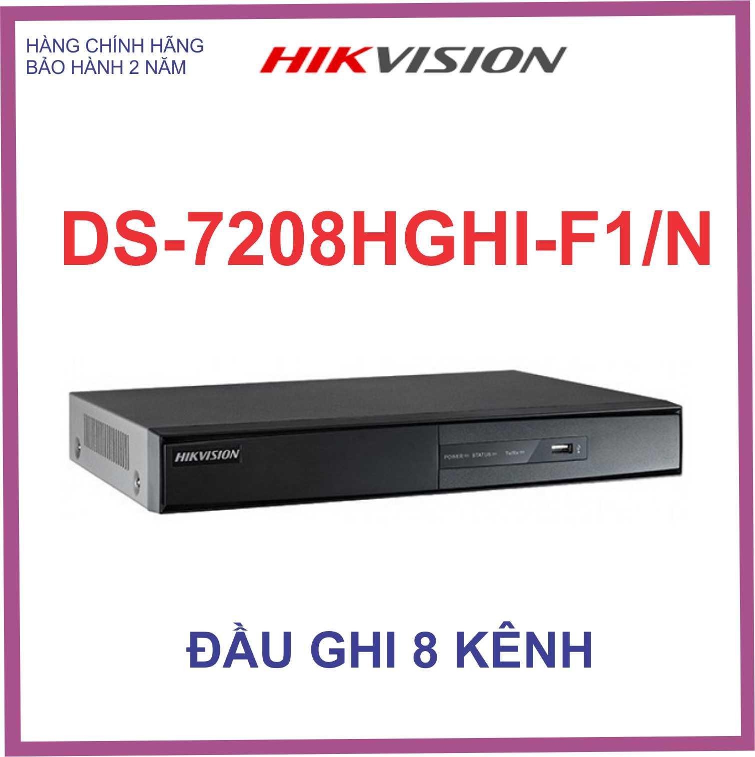 Đầu ghi hình HIKVISION HD-TVI 8kênh TURBO 3.0 DS-7208HGHI-F1/N