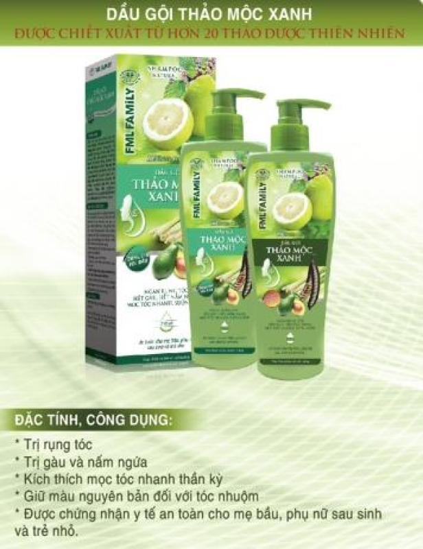 Combo bộ dầu gội xả thảo dược - Thảo mộc xanh 100% tự nhiên giá rẻ