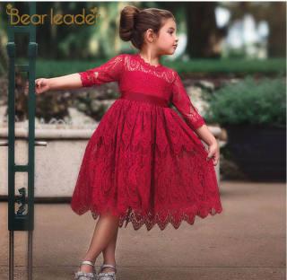 Váy Bé Gái Lãnh Đạo Gấu Đầm Trẻ Em Mùa Thu 2021 Quần Áo Bé Gái Đầm Dự Tiệc Màu Trơn Ren Nơ Váy Công Chúa Trẻ Em Váy Bé Gái Trẻ Mới Biết Đi Đầm Dự Tiệc Cho Bé Gái Tuổi Teen