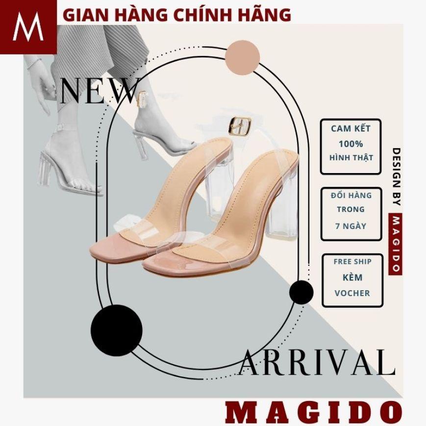(VIDEO ẢNH THẬT) dép sandal nữ cao gót 7p 💚GIÀY cao ghot quai trong nữ -sandal nữ đi học -sandal công sở - dép cao ghot nữ  -THỜI TRANG HÀN QUỐC -chất liệu mềm mại, size 35-39 -thời trang chính hãng MAGIDO giá rẻ