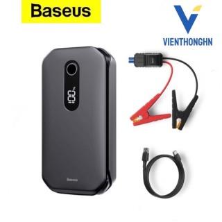 Kích nổ oto kiêm sạc dự phòng Baseus Car Jump Starter dung lượng pin 12000mAh công suất 1000A tích hợp màn hình led thumbnail