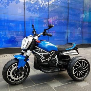 Xe máy điện đồ chơi moto 3 bánh DUCATI MONSTER 1600 cho bé đạp ga (Xanh-Đỏ-Trắng) thumbnail