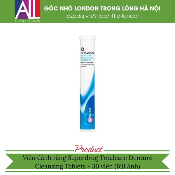 [HSD: 7/2021] Viên ngâm răng giả Superdrug Totalcare Denture Cleansing Tablets - 30 viên (Bill Anh)