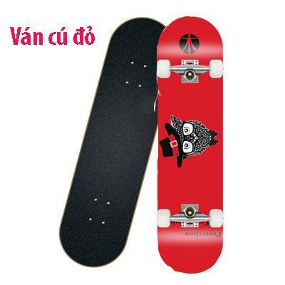 Ván trượt skateboard thể thao chất liệu gỗ phong ép cao cấp 8 lớp mặt nhám - 1