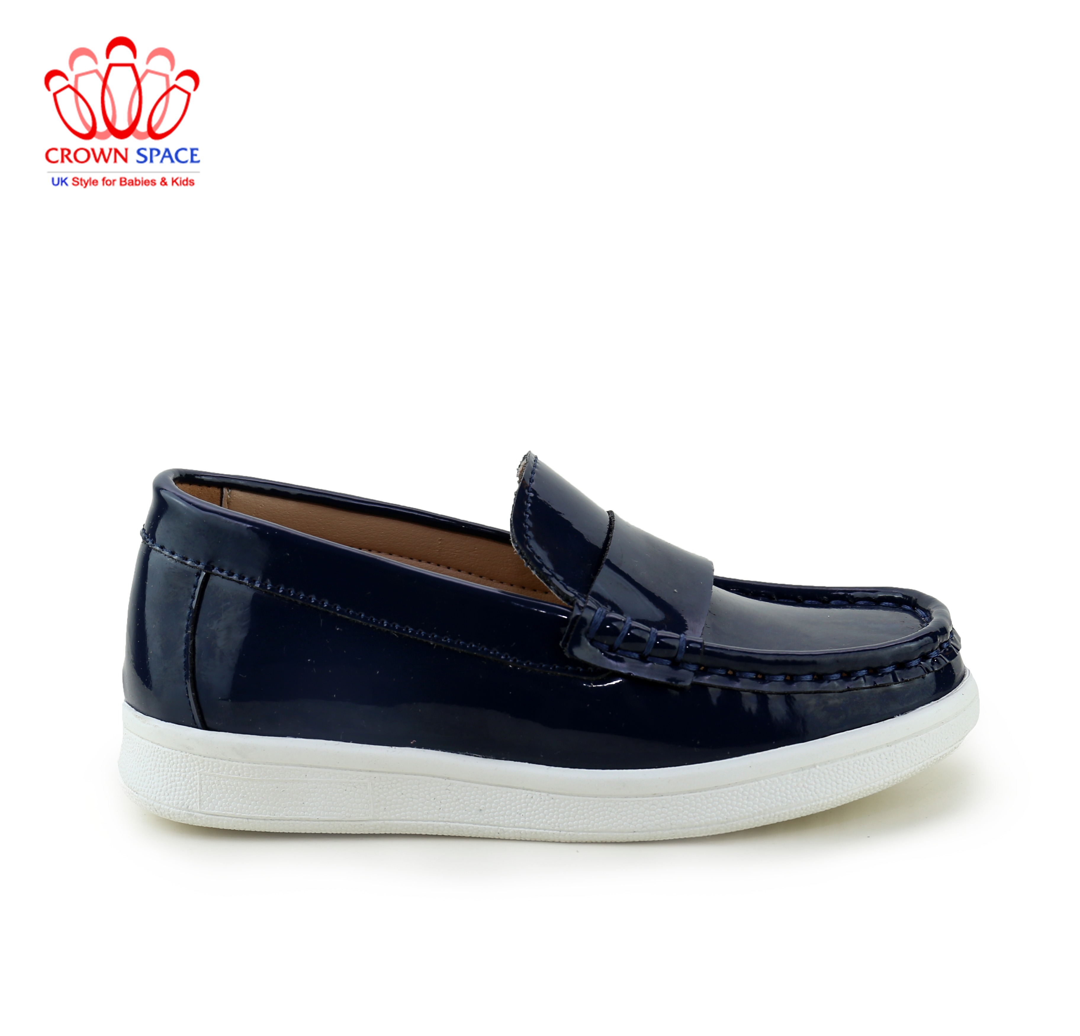 Giày Lười Loafer Bé Trai Đẹp CrownUK George Louis Moccasin Trẻ em Nam Cao Cấp CRUK436 Nhẹ Size 26-31/2-12 Tuổi